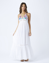 Accessorize Orchid Flower Triangle Maxi Dress