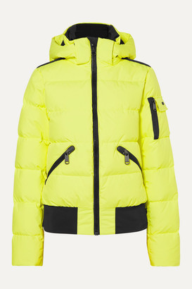 Goldbergh - Kohana Hooded Appliqued Quilted Neon Ski Jacket - Bright yellow
