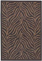Couristan Closeout! Area Rug, Recife Indoor/Outdoor Zebra Black/Cocoa 2' x 3' 7""