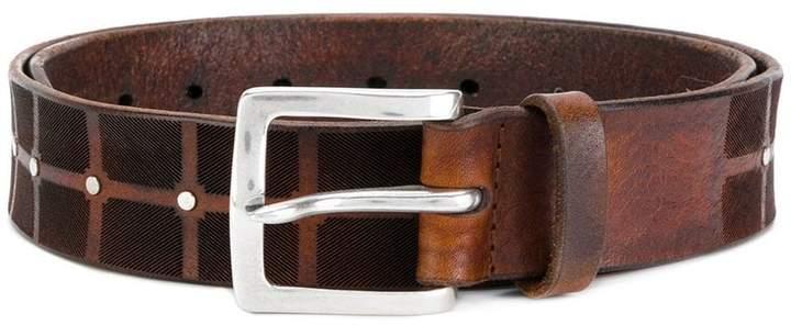 Orciani grid studded belt