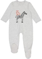 La Redoute Collections Zebra Print Cotton Sleepsuit, Birth-3 Years