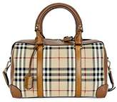 Burberry Alchester Horseferry Check Leather Bowling Bag