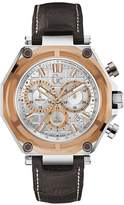 Very Gc-3 Sport - Silver case, Rose Gold bezel , Silver dial with Brown leather strap