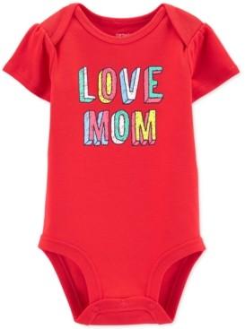 Carter's Baby Girls Cotton Love Mom Bodysuit