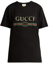 Gucci Logo-print Cotton T-shirt - Womens - Black