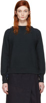 Facetasm Navy Lace-up Sweatshirt