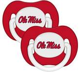 "Baby Fanatic Mississippi ""Ole Miss"" Rebels Red Infant Pacifier Set - 2015 NCAA Baby Pacifiers"