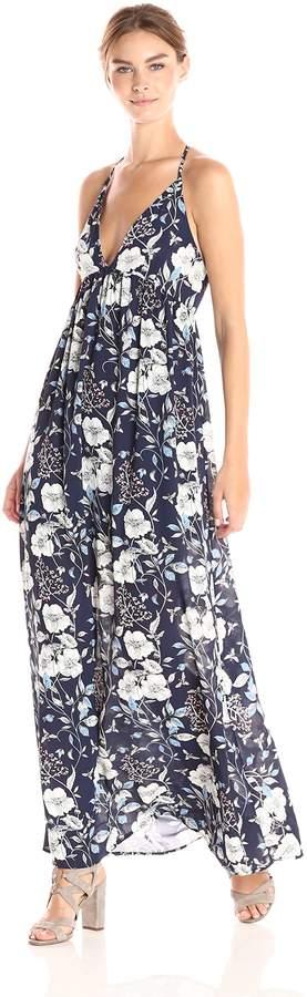 Ark & Co Women's Floral Print V Neck Maxi Dress