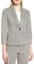 BOSS Jerella Print Stretch Cotton Suit Jacket