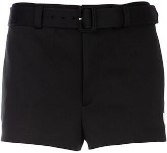 Prada Belted Technical Jersey Shorts