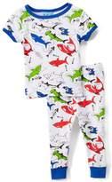 Sweet & Soft White Sharks Short-Sleeve Pajama Set - Infant & Toddler