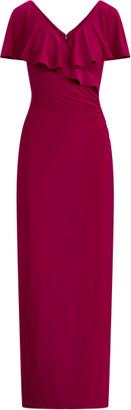 Ralph Lauren Matte Jersey Surplice Gown