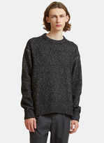 Acne Studios Nole Oversized Two-tone Knit Sweater In Black And White