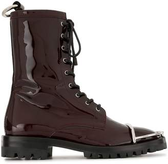 Alexander Wang Kennah patent leather effect boots