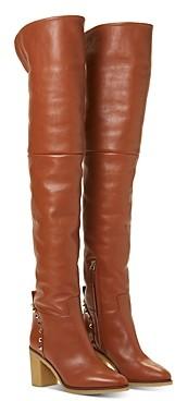 Valentino Women's Rockstud High-Heel Over-The-Knee Boots