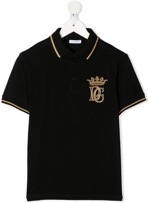 Dolce & Gabbana Kids Embroidered-Logo Polo Shirt
