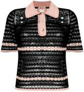 No.21 sheer collar blouse