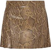 Chloé Snake-effect Leather Mini Skirt - Snake print