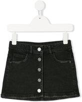 Zadig & Voltaire Kids front button denim skirt