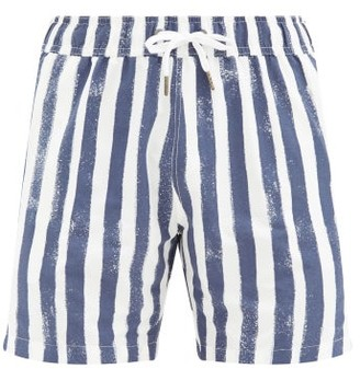 Onia Charles 7 Striped Swim Shorts - Blue White