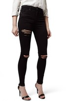 Topshop Destroyed High Rise Ankle Skinny Jeans