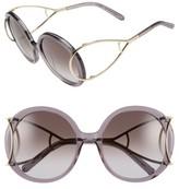 Chloé Women's 'Jackson' 56Mm Round Sunglasses - Gradient Grey