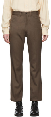 Lemaire Beige Boot Cut Trousers