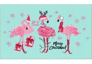 "Mohawk Flamingo Snowflakes Accent Rug, 24"" x 40"" Bedding"