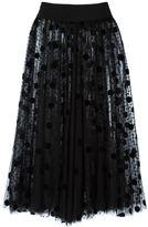 Gianluca Capannolo semi sheer polka dot skirt