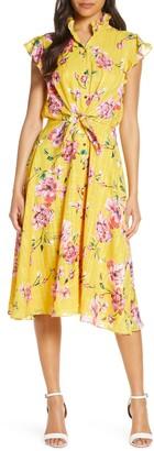 Julia Jordan Midi Tie Waist Shirt Dress