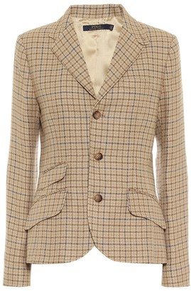 Polo Ralph Lauren Checked linen-blend tweed blazer