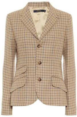 Polo Ralph Lauren Checked linen-blend tweed blazer