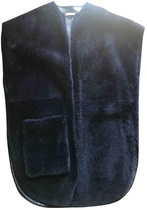 Celine Blue Shearling Coats