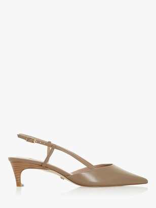 Dune Cinnamon Slingback Kitten Heel Court Shoes