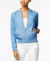 The Edit By Seventeen Juniors' Chambray Bomber Jacket, Only at Macy's