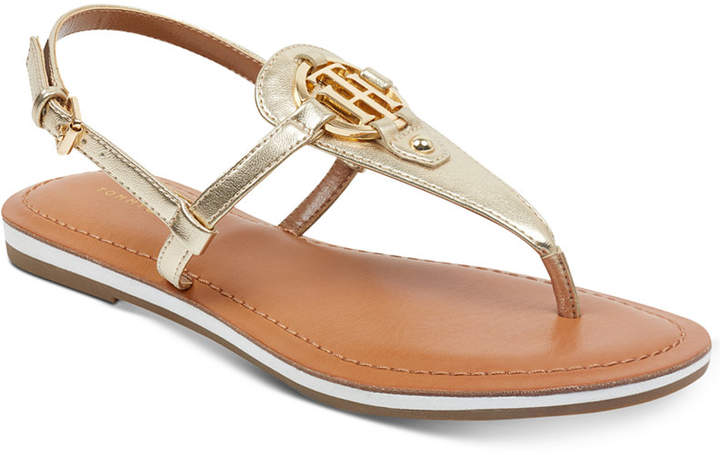 Tommy Hilfiger (トミー ヒルフィガー) - Tommy Hilfiger Genei Slingback Thong Sandals Women Shoes