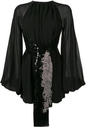 Saint Laurent sequin embroidered dress