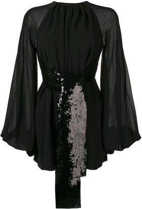 Saint Laurent Sequin Embroidered Dress