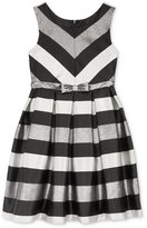 Bonnie Jean Striped Shantung Special Occasion Dress, Big Girls (7-16)