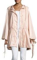 Fenty Puma by Rihanna Tie-Cuff Drawstring Parachute Jacket, Pink