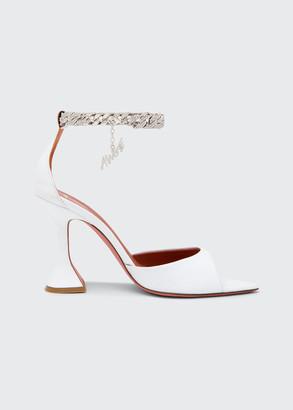 Amina Muaddi x AWGE Flacko Napa Sandals with Chain Strap