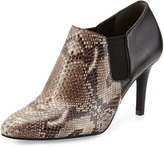 Cole Haan Maxfield Natural Snake-Print Leather Bootie, Black/Snake Print