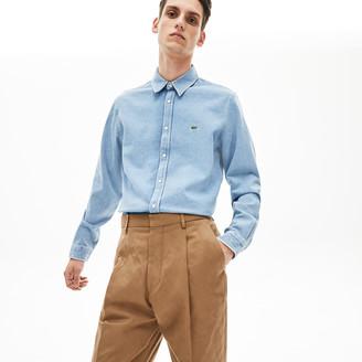 Lacoste Men's Snap Button Denim Shirt