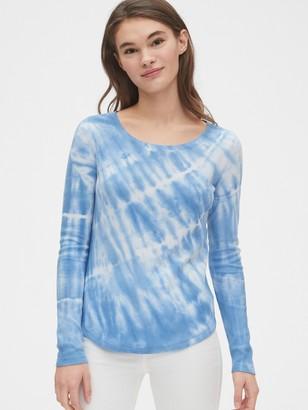 Gap Tie-Dye Waffle Scoopneck T-Shirt