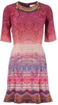 Matthew Williamson forest print embellished dress
