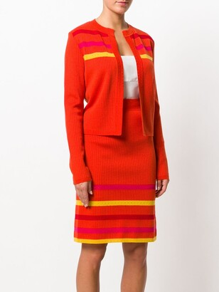 John Galliano Pre-Owned Striped Knitted Skirt Suit