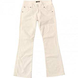 Hudson White Cotton Jeans for Women