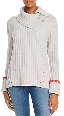 Rebecca Taylor Cozy Button Detail Ribbed Sweater