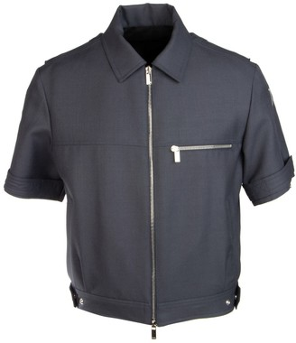 Christian Dior Cropped Zip Up Shirt