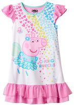 "Girls 4-8 Peppa Pig ""Chasing Rainbows"" Dorm Nightgown"